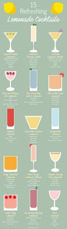 15 Refreshing Summer Cocktails to Make With Lemonade (Infographic)|Pinterest: @theculturetrip