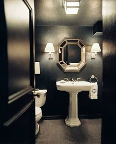 Gothic bathroom on pinterest for Gothic bathroom ideas
