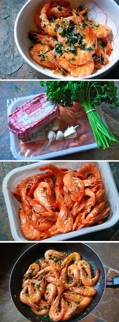Hot King Prawns in Garlic Butter | www.rachelphipps.com @rachelphipps