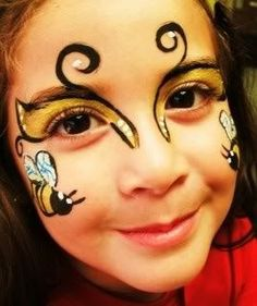 Bee face painting | Face Painting | Pinterest