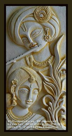 Clay Wall Art Clay Paint Mural Art Mural Painting Texture Painting Coffee Painting Wall Sculptures Sculpture Art Art N Craft Clay Wall Art, Mural Wall Art, Mural Painting, Texture Painting, Clay Art, Paintings, Krishna Painting, Krishna Art, Wall Sculptures