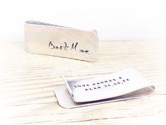 Personalised Money Clip Mens Money Clip Best by GlamAndCoJewellery