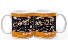 NHL Philadelphia Flyers 11-Ounce White Jersey Mug (2 Pack) by The Memory Company. $8.89. Licensed ceramic drinkware with the team colors and logos
