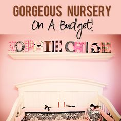 Beautiful Twins Nursery put together on a Budget! Love her tips and tricks to save! #decorating #budget #nursery