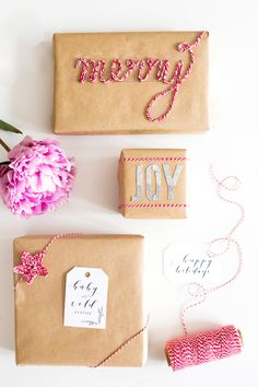 You'll love these washi tape and bakers twine gift wrap ideas made easy with a beautiful gift wrapping kit from Darby Smart and the Gap.