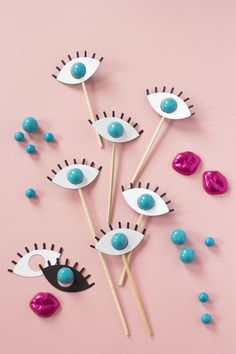 Eyeball gumball drink stirrers - The House That Lars Built