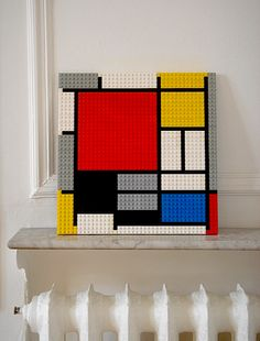 """LEGO Piet MONDRIAN - If you ♥ LEGO, come have a look at LEGO LOVE board http://pinterest.com/almaisoncloud9/lego-love/ - I am the French-Israeli designer of """"Mademoiselle Alma"""". Inspired by my daughter, ALMA, I create Jewelry made from LEGO bricks, SWAROVSKI crystals and of course, a great amount of imagination. *** http://www.facebook.com/MademoiselleAlma Hope you LIKE my Facebook page-shop ♥ & http://www.etsy.com/shop/MademoiselleAlma #LEGO"""