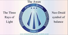 The Awen - meaning inspiration or essence in the Celtic language