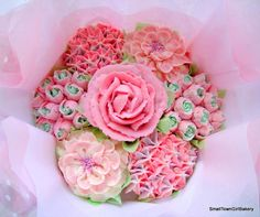 Pretty pink cupcake bouquet