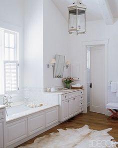 Stunning white master bathroom