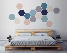Items similar to Geometric Wall ART, Removable Wall Sticker. Fabric Self Adhesive Sticker, DIY Home Decor, Scandinavian Interior Design. on Etsy Wall Art Crafts, Diy Wall Art, Wall Decor, Room Decor, Diy Art, Wall Art Wallpaper, Geometric Wall Art, Scandinavian Interior Design, Wall Design