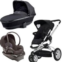 Quinny 2011 Buzz Stroller with Dreami Bassinet and Mico Carseat Set in Black:Amazon:Baby