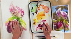 Painting Watercolor Flowers: Orchids with Joyce Faulknor and Guy Magallanes