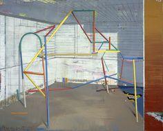 Matthias Weischer | Gerüst 2 | 2002 | Oil on canvas | 200 x 250 cm