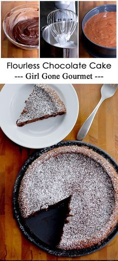 Wolfgang Puck's Flourless chocolate cake - it's rich and so decadent!   girlgonegourmet.com