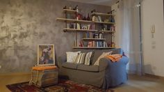 Pipe shelf in my living room