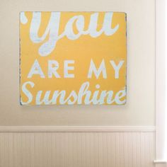 Go Jump in the Lake You Are My Sunshine Wall Art | Pure Home