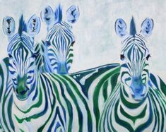 T i t l e : Zebra x 2 A r t i s t : Rachel Parker M e d i u m : Digital File, Print or Giclée D i m e n s i o n s: You choose! S p e c i f i c a t i o n s: Signed Limited Edition Giclée or Giclée with hand painting, poster print or digital file *********************About this Piece********************* This is a print of my painting of two zebras. Thank you so much to Giovanni at www.flickr.com/photos/giovannimari/ for his wonderful picture, which he took in South ...