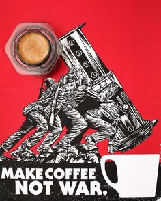 Make #coffee not war - - - - - - - - - - - - - - - - #coffee #drinking #cafe #aeropress #caffeine #blackcoffee #barista #coffeetime