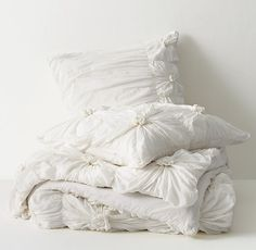 Gathered Knot Duvet Cover