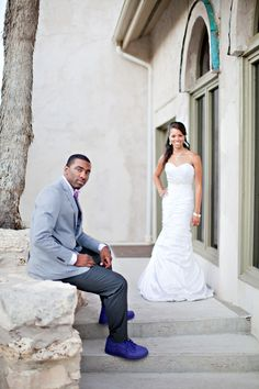 Flashback Friday: Real Weddings {Basketball Love in Texas}: Brittany & Keith! - Blackbride.com