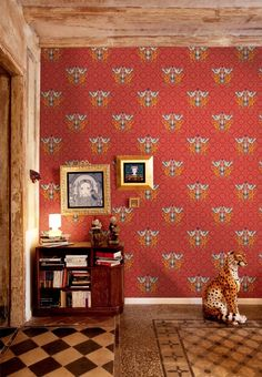 Wallpaper and leopards.