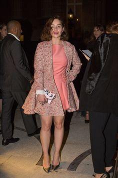 "celebriupdates: "" 10/07/15 - Emilia Clarke attend Valentino's ""Tribe Party"" during Fashion Week. """