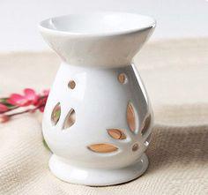 Ceramic Oil Burner   ... White Ceramic Essential Oil Burner, Aromatherapy Oil Burner MS-CB076
