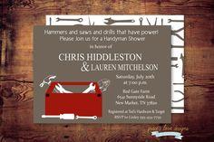 Printable Handyman Shower Invitation digital by graceloveDesigns, $12.00