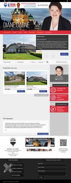 Diane Gagné - courtier immobilier #REMAX #Aliquando #immobilier #vendre #acheter #maison #habitation #web #design #webdesign http://dianegagne.immo/