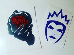 Evil Queen Inspired Vinyl decal.  All of our decals are made with Oracal 651 Vinyl. Perfect for outdoor use. No worries on product getting rained on. Item is shipped out within 1-3 days from date of ourchase. You will recieve the item on clear transfer tape. Along with Instructions on how to place. Measures at: H- 5 W- 4 Size may vary by 1/4 inch AVAILABLE IN VARIOUS COLORS. Please message upon purchase color choice. If no message received we will default to glossy white.  If purchasing ...