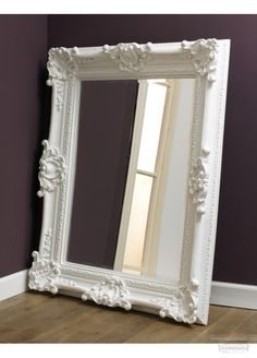 ROCOCO WHITE MIRROR  Rococo White Classic wall mirror in an elegant white finish A gorgeous classically styled wall mirror which will add a touch of refined elegance to any home. Dimensions 165cm x 135cm 399.99GBP