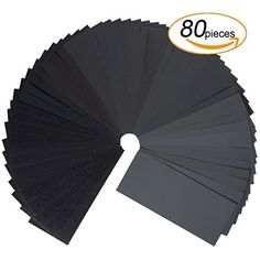 Wet Dry Sandpaper,320 to 3000 Grit Sandpaper Assortment for Automotive Sanding, Wood Furniture Finishing And Wood Turning Finishing(80pcs)  QUANTITY - Package comes with total 80 sheets assorted abrasive sanding sheets including 8 sheets of each grit in 320/400/ 600/ 800/ 1000/ 1200/ 1500/ 2000/ 2500/ 3000. Provide you with a variety of options.  HIGH QUALITY SANDPAPER - the abrasive paper is made of silicone carbide and electro coated; , tear off or crumble off when you use it.You can...