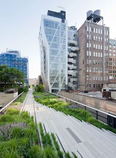 the High Line, a 1.5 mile-long elevated park on an abandoned railway in New York. Landscape architects James Corner Field Operations, architects Diller Scofidio + Renfro and planting designer Piet Oudolf. this to me is the most perfect, usable and attractive urban landscaping project ever. wonderful wonderful planting!!! mad <3