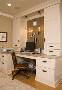 traditional home office by Kayron Brewer, CKD / Studio KB.