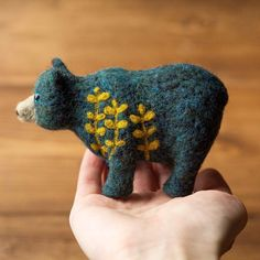 Eucalyptus Bear is up in the shop!🐻 #needlefelted #needlefelting #needlefeltedanimal #felting #feltedbear #feltbear #tealbear #eucalyptus #botanical #botanicalbear #etsy #handmadewithlove #teal #softsculpture #bear