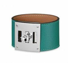 Hermes Malachite Swift Kelly Dog Bracelet