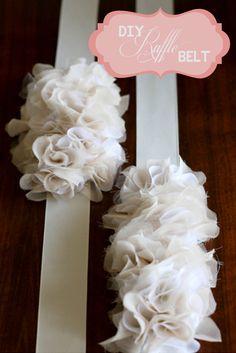 DIY, Do It Yourself, Craft, Wedding, Favours, Tutorial, Ruffles, DIY Ruffles, Wedding Ruffles, Ruffle Craft Projects, Ruffle Pom Pom, Fabric Pom Pom, Ruffle Belt, Ruffle Necklace, Ruffle Shoes (2)