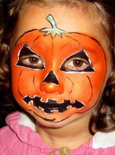 cute pumpkin halloween makeup ideas | Pumpkin Painting Ideas ...