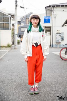 Harajuku Girl w/ Green Hair, Resale Fashion, Onigiri Pouch