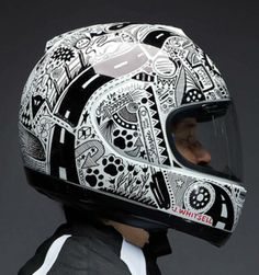 Cool motorbike helmet desings using a Sharpie pen | Cool Cars and Bikes