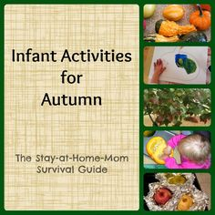 Infant activities exploring autumn. Try these in the Fall so that your infants can explore some Fall fun too with these Infant Activities for Autumn.