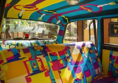 """Taxi Fabric"" is a self-initiated project by London-based art director Sanket Avlani. The project is focused on creating a space for designers to show off their creative ideas using taxi seats as their canvas.  ""Taxis in India, particularly in Mumbai, are not only the most convenient form of transport but have also become an iconic piece of culture. Although much attention is given to each taxi by its driver - to make it stand out from his competitors - very little thought is given to the…"