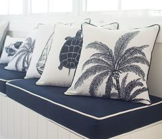 Creating the Florida Keys look with this collection of coastal cushions   FLORIDA KEYS Collection   Seacova Coastal Interiors