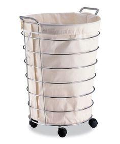 Look What I Found On Zulily Natural Jumbo Wheeled Basket Bag Zulilyfinds Rolling Laundry Basket Laundry Hamper Laundry Basket