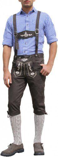 #Kniebundhose #Trachten #Jeans #Baumwolle #Hose mit #Hosenträger #Braun…