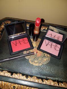 NARS blush in Exibit A,  Dolce Vita. Lips - Too Faced Rebel Heart Pencil - MAC Burgundy