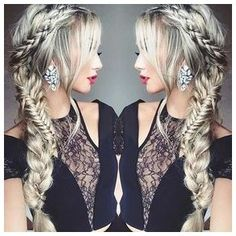 Braided Hair to the Side #StylishBraidStyles #StylishBraid click now to see more...