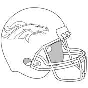 Printable denver broncos logo template from for Denver broncos helmet coloring page