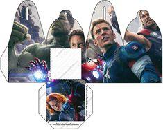 Caixa com Foto Os Vingadores 2